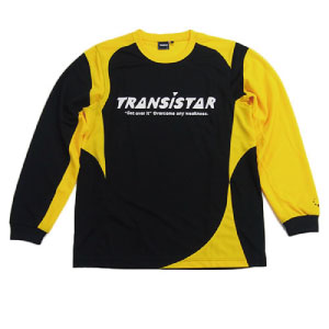 L/S PRACTICE SHIRT/BLACK×YELLOW