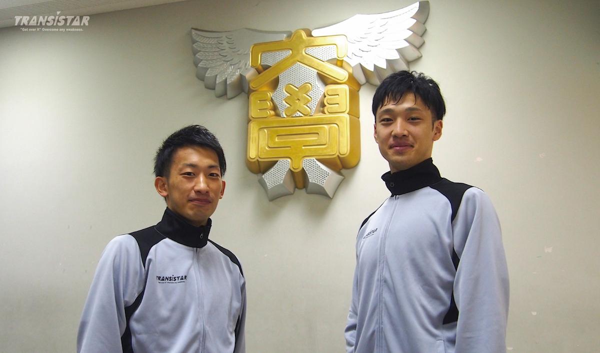 写真左:主将の大山選手(4年・田辺)、写真右:キープレイヤーの岩見選手(2年・洛北) 岩見選手は関西学生リーグで2季連続得点王を獲得